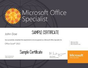 MOS Certificate 2015