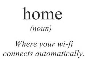 Home Where Your WiFi Connects automatically